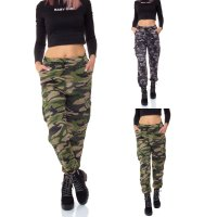 Ladies thermo fur pants cargo pants camouflage