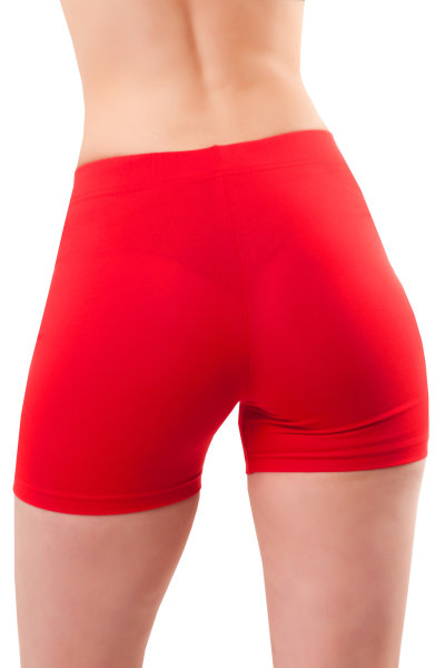 Damen Shorts Leggings kurz Hotpants Baumwolle M/38 rot