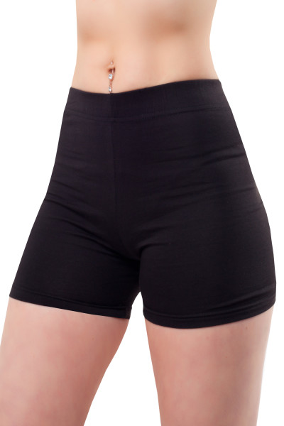 Damen Shorts Leggings kurz Hotpants Baumwolle XXL/44 schwarz