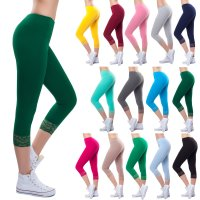 Bongual ® 3/4 Leggins Spitze Capri-Leggings...