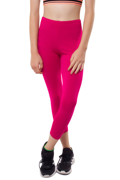 3/4 Leggins Kinder Leggings Baumwolle 134 pink
