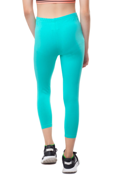 3/4 Leggins Kinder Leggings Baumwolle 152 mint