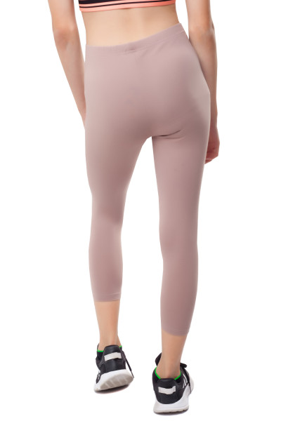 3/4 Leggins Kinder Leggings Baumwolle 140 beige