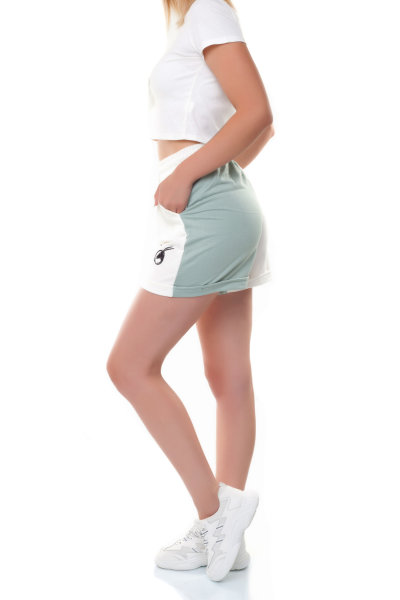 Shorts Damen Hotpants Baumwolle M/38 minze