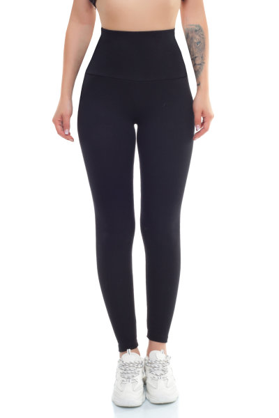 Damen Thermoleggings Hochbund Flanell